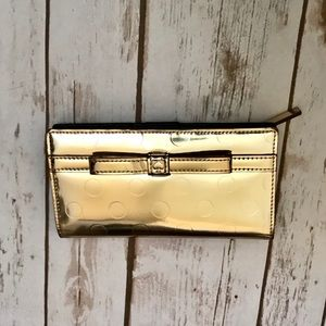 Kate Spade Gold Metallic Wallet Stacy